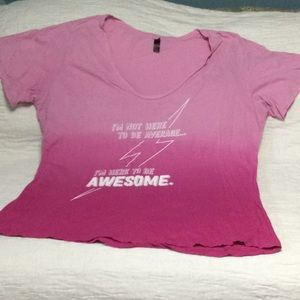 Pink ombré t-shirt size 4X